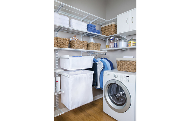 White freedomRail Ventilated Laundry Room
