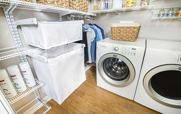 White Ventilated freedomRail Laundry Room