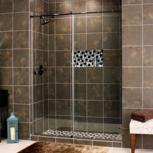 Skyline Slide Rubbed Bronze Clear