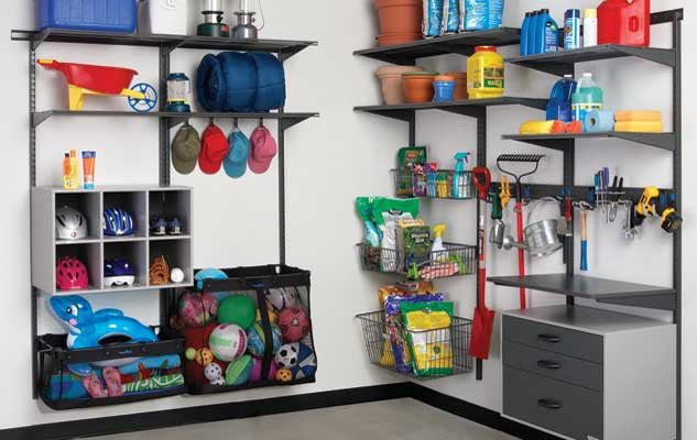 freedomRail Garage Shelves and Go Boxes