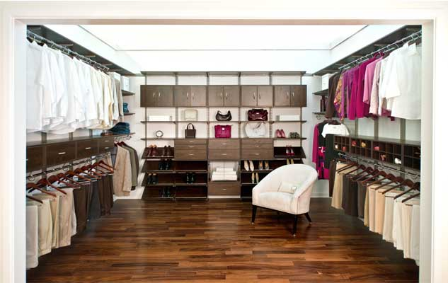 FreedomRail Chocolate Pear Master Walk In Closet