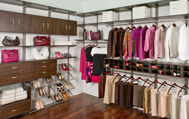 freedomRail Chocolate Pear Walk-in Closet