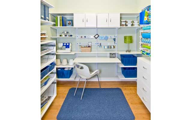 White freedomRail Hobby Room
