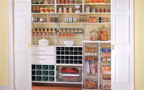 freedomRail White Reach-in Pantry
