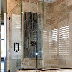 Heavy Glass Shower Enclosure