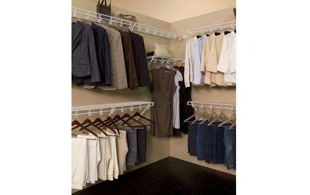 Lifetime Ventilated Open Slide White Walk-in Closet