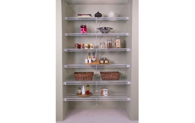 Lifetime Ventilated Tight Mesh Storage Shelving White Linen Closet