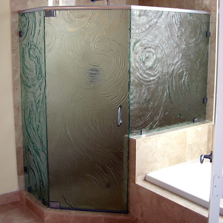 Cast Glass Enclosures Storm Glass Swing Door